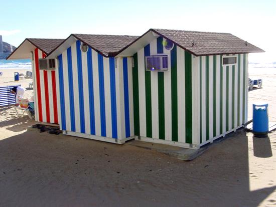 Instalaciones en playas, encimera de baño